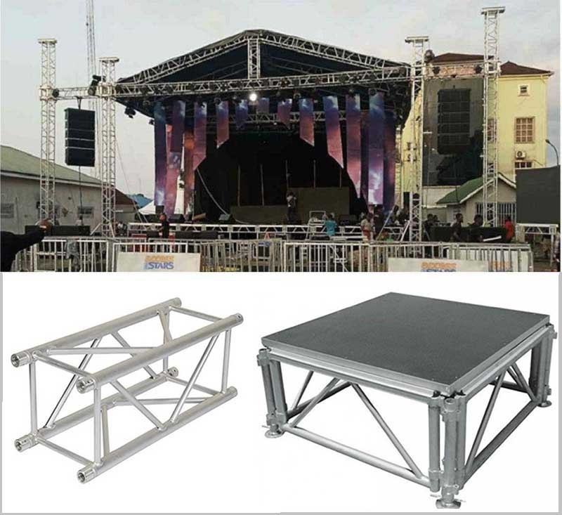Stage lighting truss systems