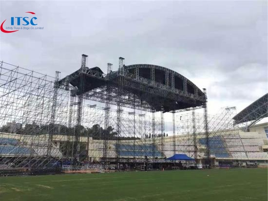cuved truss system