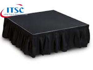 Black stage skirting