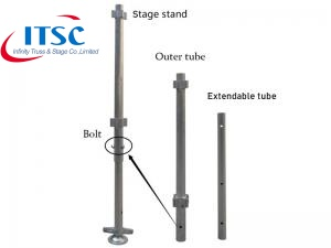 Adjustable stage legs