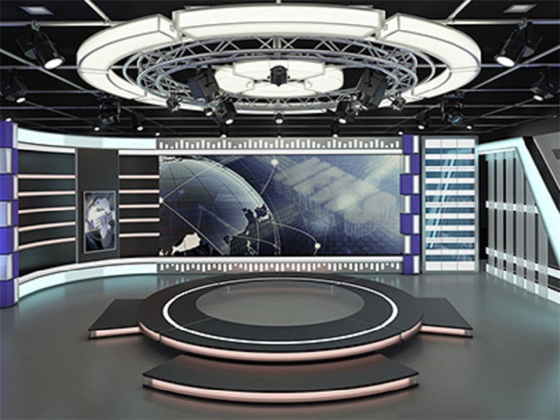 3d visual tv studio sistema de truss circular de aluminio